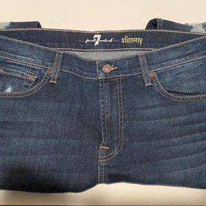 Mens Slimmy Skinny Distressed Jeans
